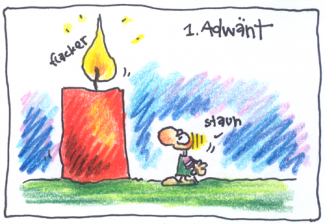 Cartoon zum ersten Advent